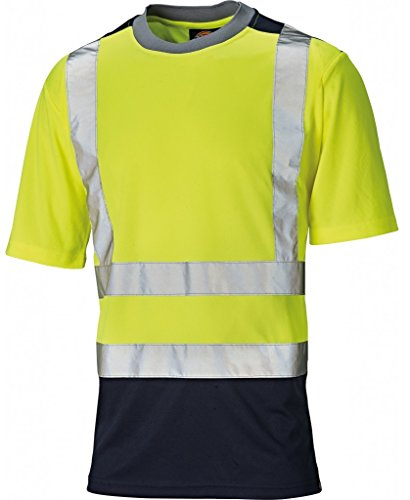 Dickies Dickies Two Toned HV T-Shirt, S, gelb, SA22081