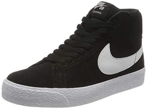 Nike SB Zoom Blazer Mid, Scarpe da Ginnastica Unisex-Adulto, Black/White-White-White, 45 EU