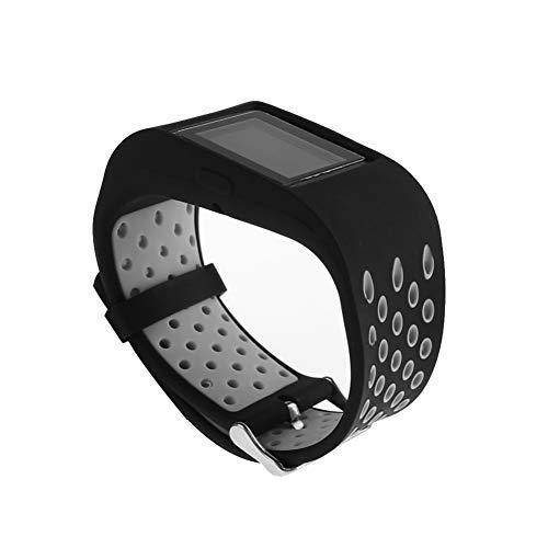 WATORY Armband für Fitbit Surge Weich Silikon atmungsaktiv Sport Band Wasserdicht Alternative UhrenArmbandd Armbandd für Fitbit Surge, Schwarzgrau
