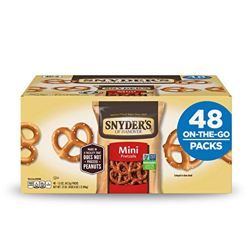 Snyder's of Hanover Mini Pretzels, Individual Packs, 1.5 Ounce, 48 Count