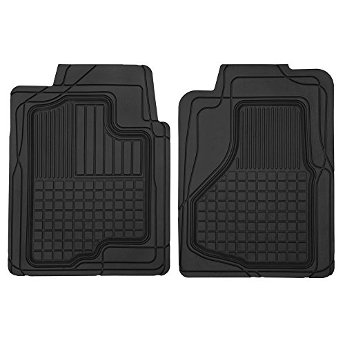 2 Front All Weather Custom Heavy Duty Rubber Floor Mats for Auto Car Truck SUV
