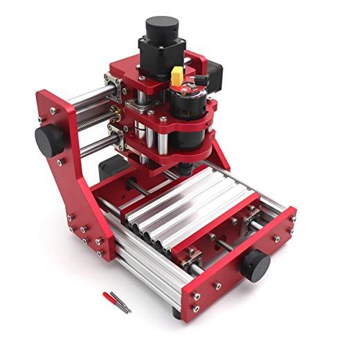 RATTMMOTOR 組み合わせ金属加工CNCルータキット CNC 1310 3? GRBL Control diy ミニフライス盤 126x88x38mm + ER11コレット USB卓上cnc彫刻機 木工 cnc金属加工切削可能 手作り 彫刻 DIY愛