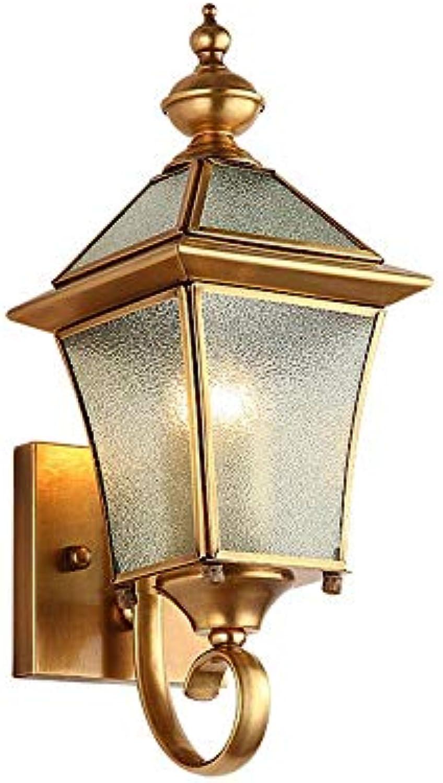 StiefelU LED Wandleuchte nach oben und unten Wandleuchten Wandleuchten alle Outdoor - Kupfer wasserdicht Rostschutz, nobulb