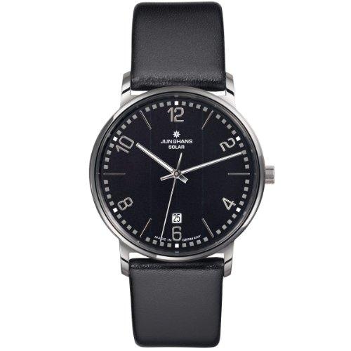 Junghans Herren-Armbanduhr XL Milano Solar Analog Quarz Edelstahl 014/4062.00