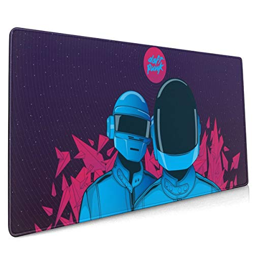 Adtfjewtysrt Mouse pad Daft Punk Mouse pad 15.8x35.5 inch, Large Mouse pad, Gaming Mouse pad, Non-Slip Mouse pad, Home Mouse pad, Office Mouse pad