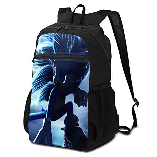 Movie S-onic Travel Hiking Backpack for Women & Men, Handy Foldable Ultra Lightweight Packable Water Resistant Daypack for Camping Outdoor Sports Fitness, Shopping One Size