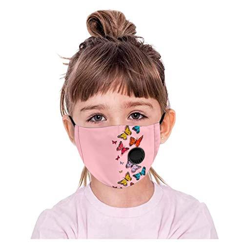 PPangUDing Mundschutz Kinder Waschbar Baumwolle mit Ventil Atmungsaktive Staubdicht Cartoon Druck Motorrad Schlauchtuch Multifunktionstuch Halstuch Biker Tuch Schlauchschal