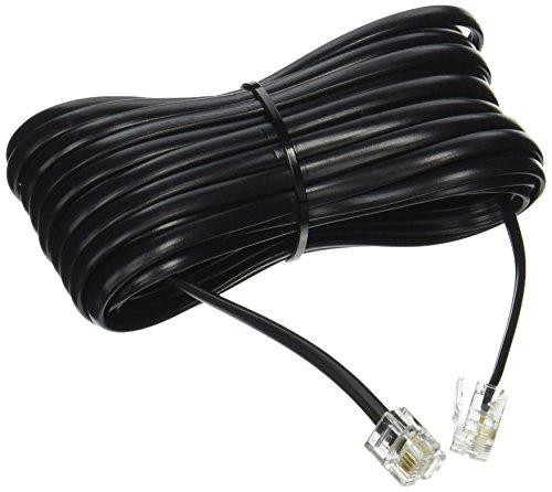 BoostWaves Telstar - Cable alargador para teléfono con Conectores RJ-11 estándar, Color Negro