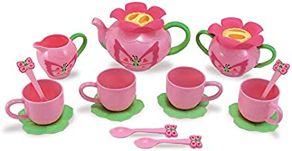 Melissa & Doug Bella Butterfly Pretend Play Tea Set (Pretend Play, Food-Safe Material, BPA-Free, Durable Construction, Great Gift for Girls and Boys - Best for 3, 4, and 5 Year Olds)