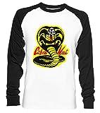Cobra Kai Dojo - Cobra Kai Unisex Camiseta De Béisbol Manga Larga Hombre Mujer Blanca...