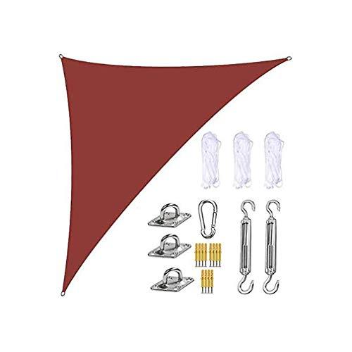 ZXSZX Parasol Vela Triangular 3x4x5m Paño Sombrilla Impermeable Anti-UV Protector Solar Toldo 98% Bloque Jardín Al Aire Libre Patio Fiesta Trasero Refugios Acampar,07