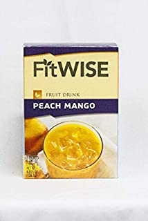 Healthwise - Peach Mango Fruit Drink - for Weight Loss - Hunger Suppressant - 15 Gram Protein Supplement - 70 Calories - 15 Grams of Protein - (7 Packets 0.69 OZ Packets Net 4.82 OZ) - by Fit Wise