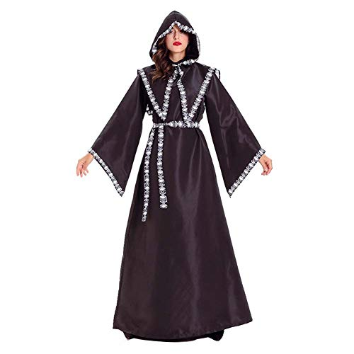 Horror Asistente de Vestuario Parca Vestido de Bruja Hombres de Las Mujeres Capa Monk Robe Sacerdote Esqueleto Zombi de Halloween Partido de Purim Fantasía,Women