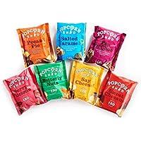 Popcorn Shed's Paquete de selección de degustación de palomitas gourmet (paquete de 7): el regalo perfecto para palomitas de maíz   Snacks naturales, sin gluten y vegetarianos