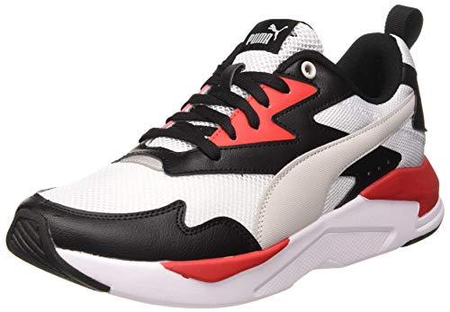 PUMA Unisex X-ray Lite Sneaker, Black Gray Violet White High Risk Red, 45 EU