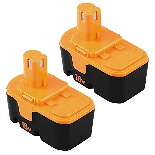 2Packs Replace for Ryobi 18V Battery Ryobi ONE+ P100 P101ABP1801 ABP1803 BPP1820 Cordless Power Tools