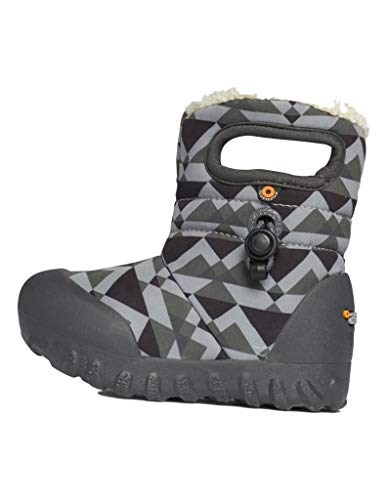 BOGS Baby B Moc Insulated Winter Waterproof Snow Boot, Mountain - Gray Multi, 4