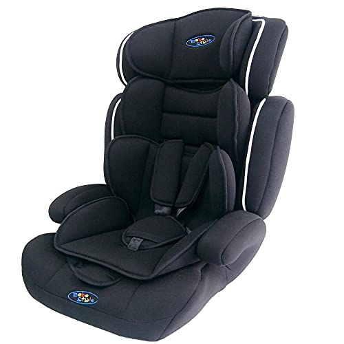 Bebe Style Car Seat, Convertible, Group 1 2 3, 9-36 kg, 9 Months to 12 Years, Combination Booster & Child Seat, with ECE R44/04 Certification, Black