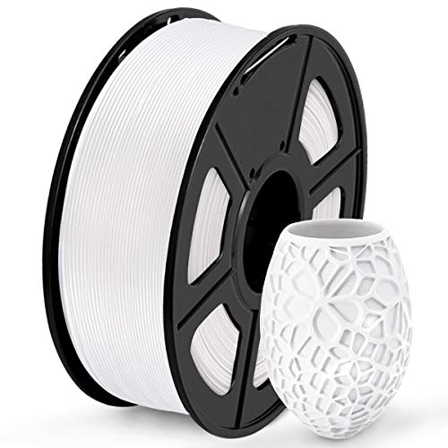 SUNLU Filament 1.75mm PLA 3D Drucker Filament PLA 1kg Spool (2.2lbs), Toleranz beim Durchmesser liegt bei +/- 0,02mm PLA Weiß