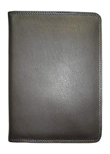 Josephine Osthoff Handtaschen-Manufaktur SOS großes Leder Ausweisetui Espresso mit RFID Schutz Etui für Ausweise in DIN A6 Behindertenausweis Dunkelbraun