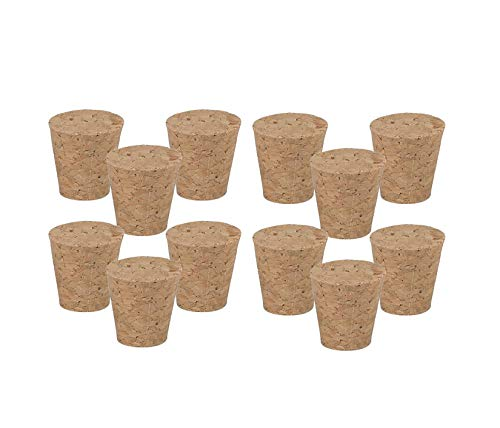 EUROXANTY® Tapón de Corcho   Tapón para Botellas de Vino, Cerveza, Agua   Tapón para aceiteras   Corcho Natural  Corcho para Manualidades   Modelo 2 12 Unidades