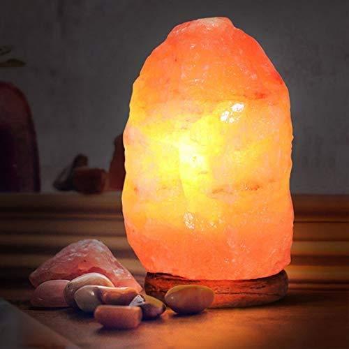 LAMPADA DI SALE HIMALAYANO Completamente Naturale e Realizzata a Mano con Base in Legno… (9/11 kg)
