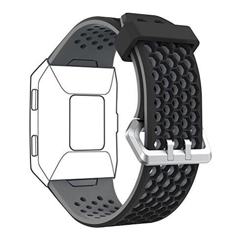 DD für Fitbit Ionic Armband, Weiche Silikon Einstellbare Mode Sport Strap Ersatz Zubehör für Fitbit Ionic Fitness Smart Watch