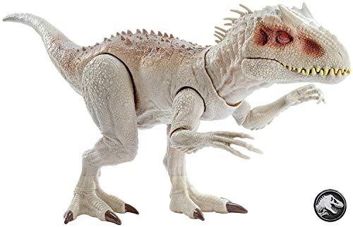 Mattel GCT95 - Jurassic World Dinosaurier Spielzeug Fressender Kampfaction Indominus Rex mit Lichtern und Geräuschen, Spielzeug ab 4 Jahren