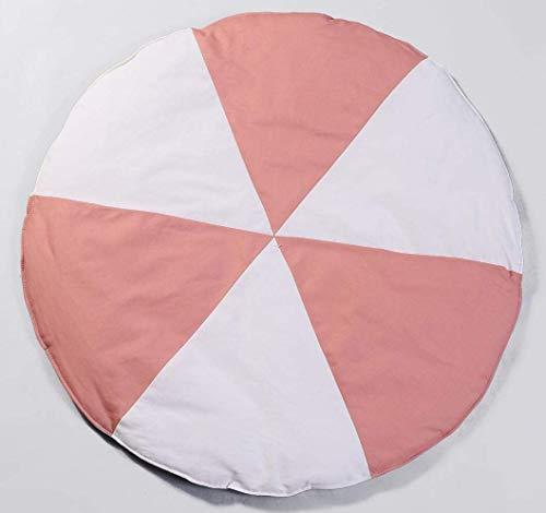 WANBAO Cómodo Niños Que se arrastra, Alfombra Redonda de Molino de Viento, alfombras de algodón para bebés, colchonetas de Arrastre de algodón, Juego de Pisos de Piso para Dormitorio l (Color : Pink)