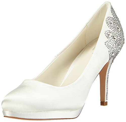 Menbur Wedding Damen Zulema Pumps, Elfenbein (Ivory), 38 EU