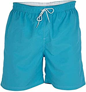 D555 by Duke Kingsize Big Mens Swim Shorts, Full Length Nylon, Elasticated Waist, Blue (2XL-6XL)