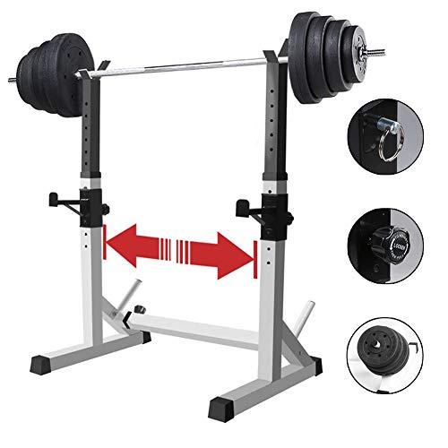 BLLJQ Verstellbarer Squat Rack Squat Stand, Multifunktionales Trainingsgewicht Rack, 200 kg Maximales Gewicht für das Training von Bauchmuskeln und Rücken