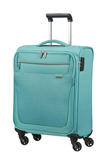 American Tourister Sunny South Luggage- Carry-On Luggage, Spinner S (55 cm - 36 L), Blau (Purist Blue)