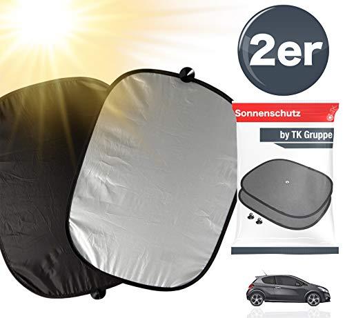 TK Gruppe Timo Klingler 2X Sonnenschutz Auto Sonnenblende Autosonnenblende Autofenster, Kind & Baby mit Saughaken für Seitenscheibe