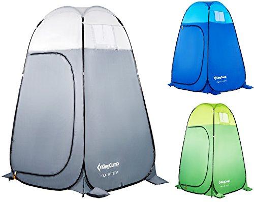 KingCamp - Tienda de campaña Multiusos de 450 mm, Impermeable, para el baño, para el Almacenamiento de Picnic, Camping, Playa, Color Gris (Gris)