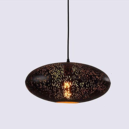 Retro Design hanglamp vintage hanglamp E27 lamphouder metaal ijzer hanglamp platte bal lampenkap lampen woonkamer slaapkamer keuken of hangend boven de eettafel verlichting