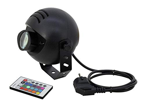 Eurolite LED PST-9W TCL FB Spot | LED-pinspot met RGB-kleurenmengsel en infrarood afstandsbediening | Perfect voor de verlichting van discoballen