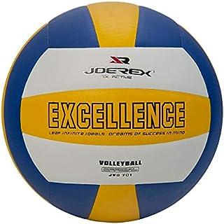 كرة طائرة مناسبة للتدرب من جيروكس مقاس 5 متينة للاستخدام في الاماكن المغلقة وفي الهواء الطلق - ازرق/ اصفر/ابيض