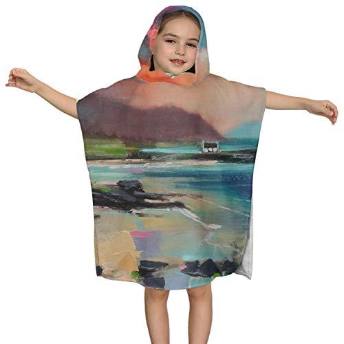 Kinderbadhanddoek met capuchon Rum uit Zuid-Uist Zwemmen van hoge kwaliteit Multifunctionele Mantel Designhood Super Zacht en Super Grote Ultrafijne Polyester Vezel voor Meisjes en Jongens