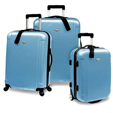 Traveler's Choice Freedom 3-Piece Lightweight Luggage Set, Arctic Blue (20 /25 /29 )