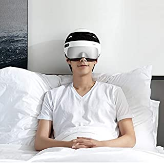 Breo iDream5 Head and Eye Massager, 2-in-1 Rechargeable Electric Helmet Massager with Heat, Air Compression, APP Control Neck Massager for Stress Relief and Better Sleep