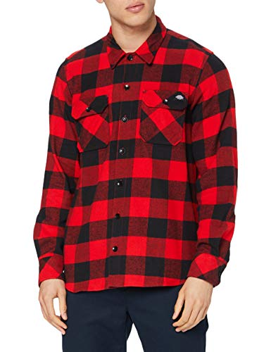 Dickies Herren Sacramento Freizeithemd, Rot (Red Rd), Medium
