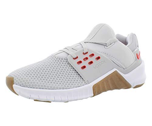 Tênis de Treino Masculino Nike Free X Metcon 2, Pure Platinum/Habanero Red, 10.5