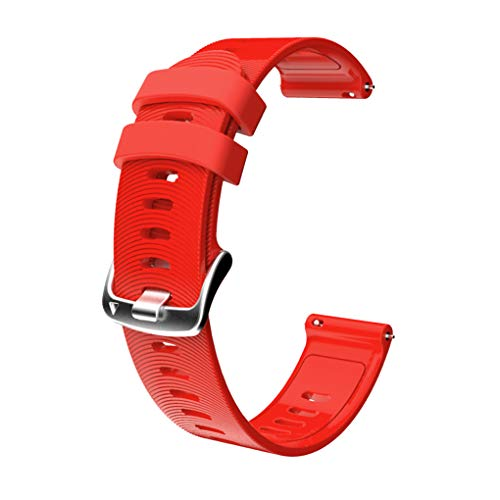 rongweiwang Sport-Silikon-Uhr-Band-Fitness-Uhrenarmband-Uhrenarmband-Silikon-Bügel-Ersatz für // Samsung 20mm, Rot