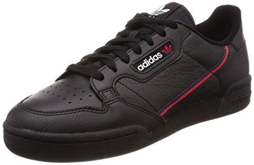 adidas Herren Continental 80 Fitnessschuhe, Schwarz (Negbás/Escarl/Maruni 000), 41 1/3 EU