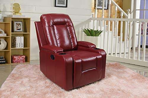 Home Life Dark Red Premiere Classics Ultra Relaxation Power...