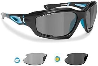 c2e2681a82 BERTONI Gafas de Sol Deportivas Polarizadas Fotocromáticas para Deporte  Ciclismo MTB Pesca Esqui Golf Running Kitesurf