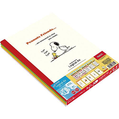 ナカバヤシ ロジカルエアーノート 5冊パック セミB5 A罫 スヌーピー ノS-143A-5P