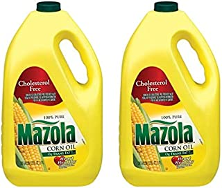 Mazola 100% Pure Corn Oil, 128 oz, naturally cholesterol free (Pack of 2)