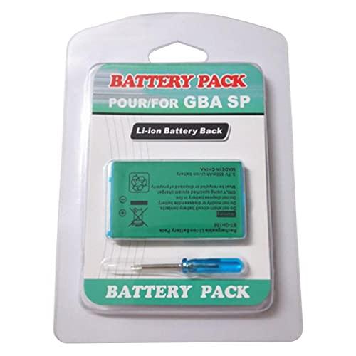 Kit di attrezzi compatibile con Gameboy Advance GBA SP Batteria ricaricabile agli ioni di litio 3,7 V 850 mAh Batteria ricaricabile di grande capacità 3,7 V 850 mAh Li-ion Batteria di ricambio